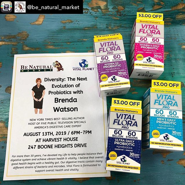 We're excited to learn from @brendawatsonwellness tomorrow night at 6pm. See you there!  Repost from @be_natural_market - We will be hosting Brenda Watson, America's digestion care expert next Tuesday at @harvesthouseboone from 6-7pm. This talk is free and open to the public, so be sure to come out and bring a friend to learn all about probiotics and the importance of the gut! . . . #benatural #community #educateyourself #knowedgeispower #probiotics #brendawatson #guthealth #boonenc #supportlocal