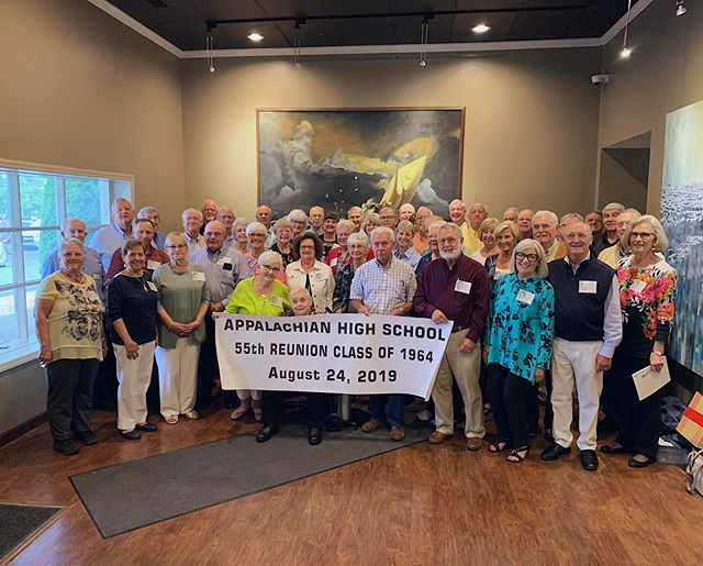 Last night we hosted the Appalachian High School class of 1964 alumni for their 55th high school reunion. There was laughter, reminiscing, so much friendship, and maybe a tear or two looking back over the years and forward to what's to come. . . . #harvesthouseboone