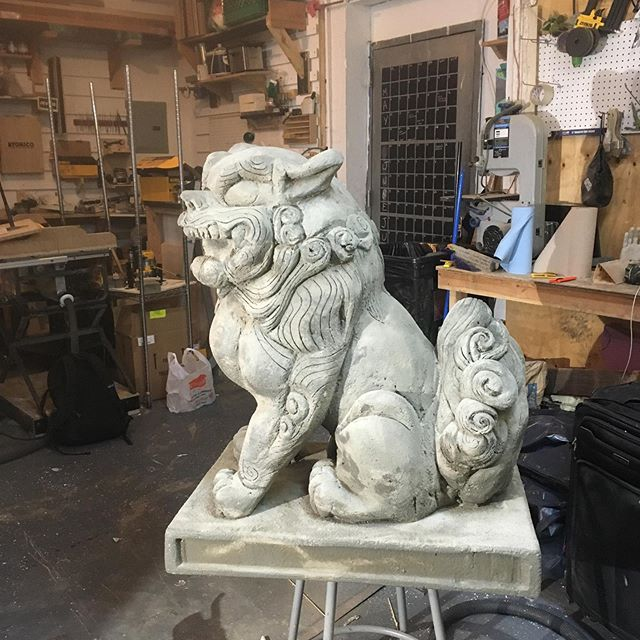 Komainu statue - inspired by recent trip to japan