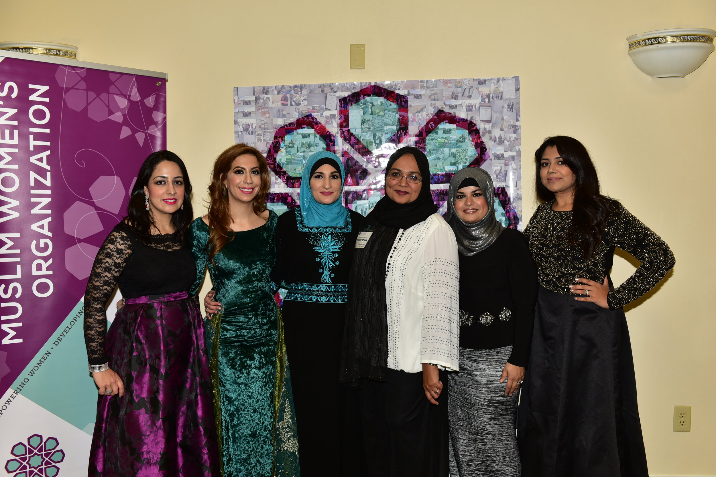 MWO Board members with 2016 GEMS Gala keynote speaker Linda Sarsour.