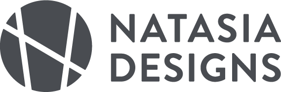 Natasia Designs Logo, Edmonton Freelance Graphic and Website Designer