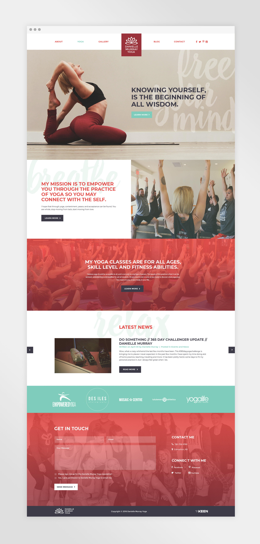 Natasia Designs Danielle Murray Yoga Website Design Edmonton Alberta