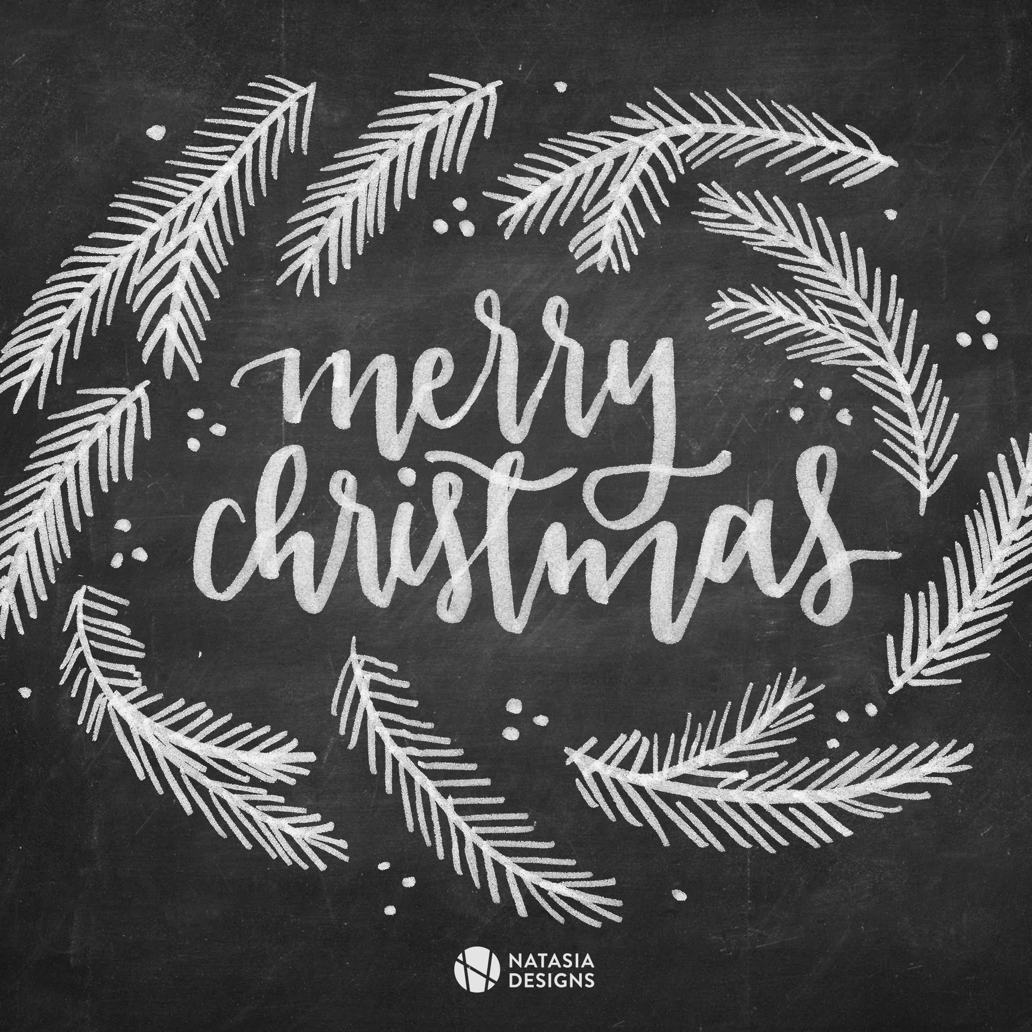 Natasia Designs Graphic Design Lettering Freebie Social Media Posts Christmas Holiday Free