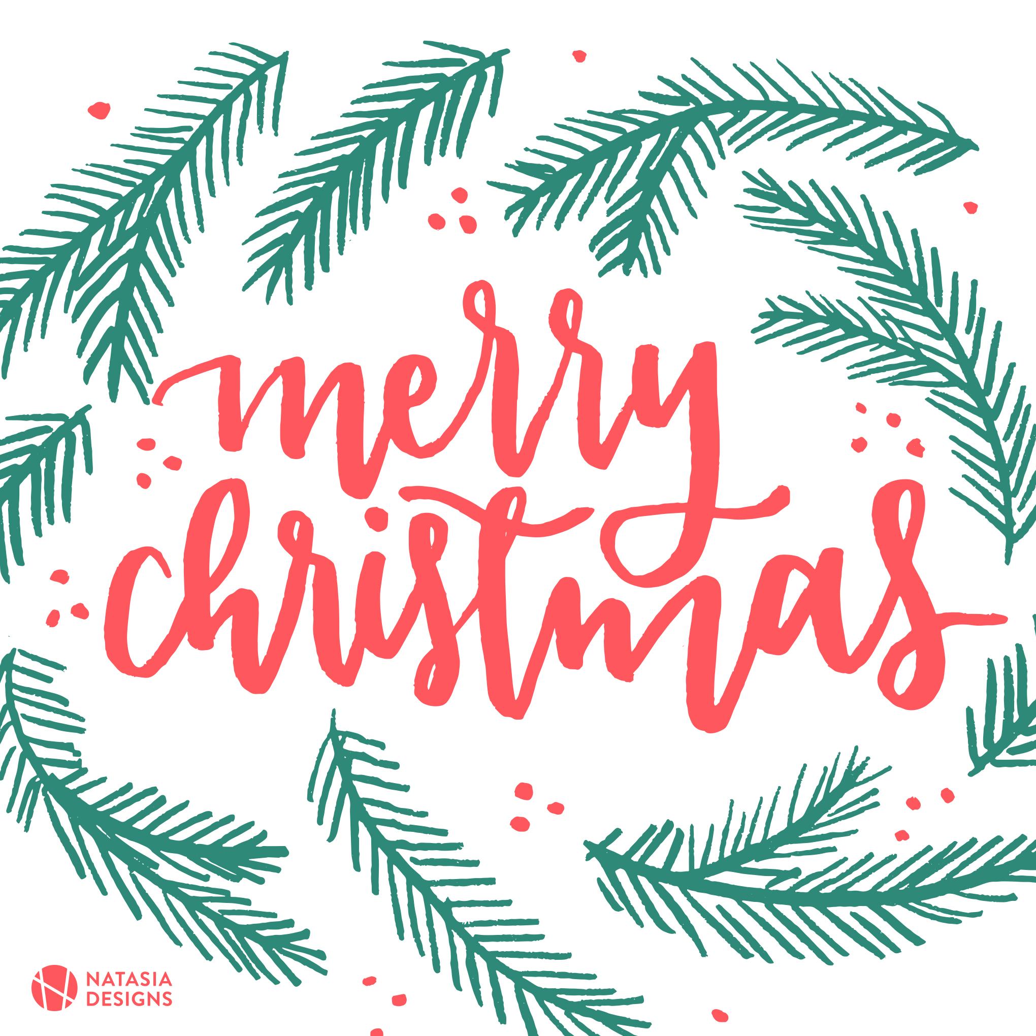 Natasia Designs Christmas Social Media Holiday Post Freebies Free Download
