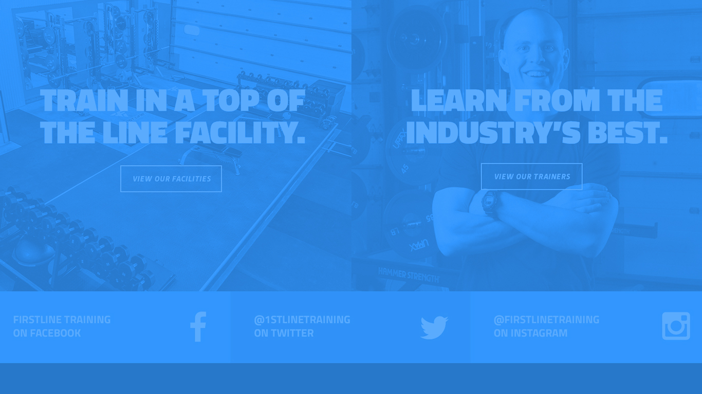 - A bold and motivating website for a sports training facility.