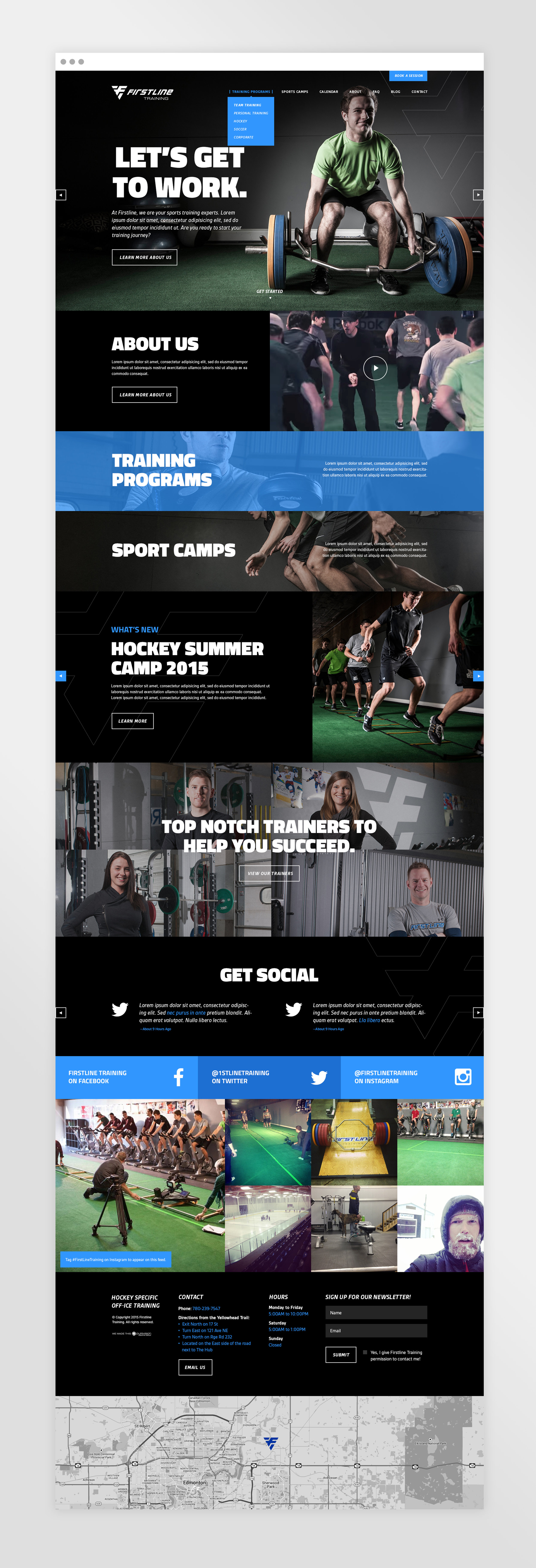 Natasia Designs Edmonton Freelance Graphic and Website Designer Firstline Fitness Training Web Design and Development