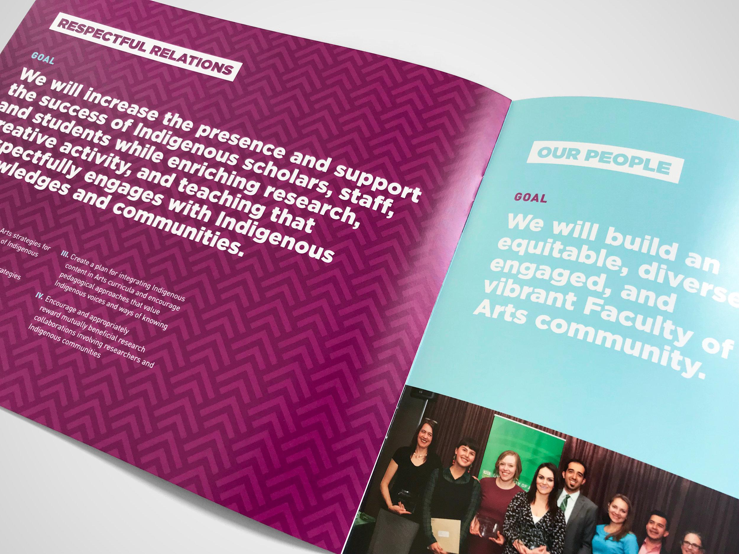 Natasia Designs Edmonton Alberta Graphic Designer Brochure Design Annual Report Strategic Plan University of Alberta