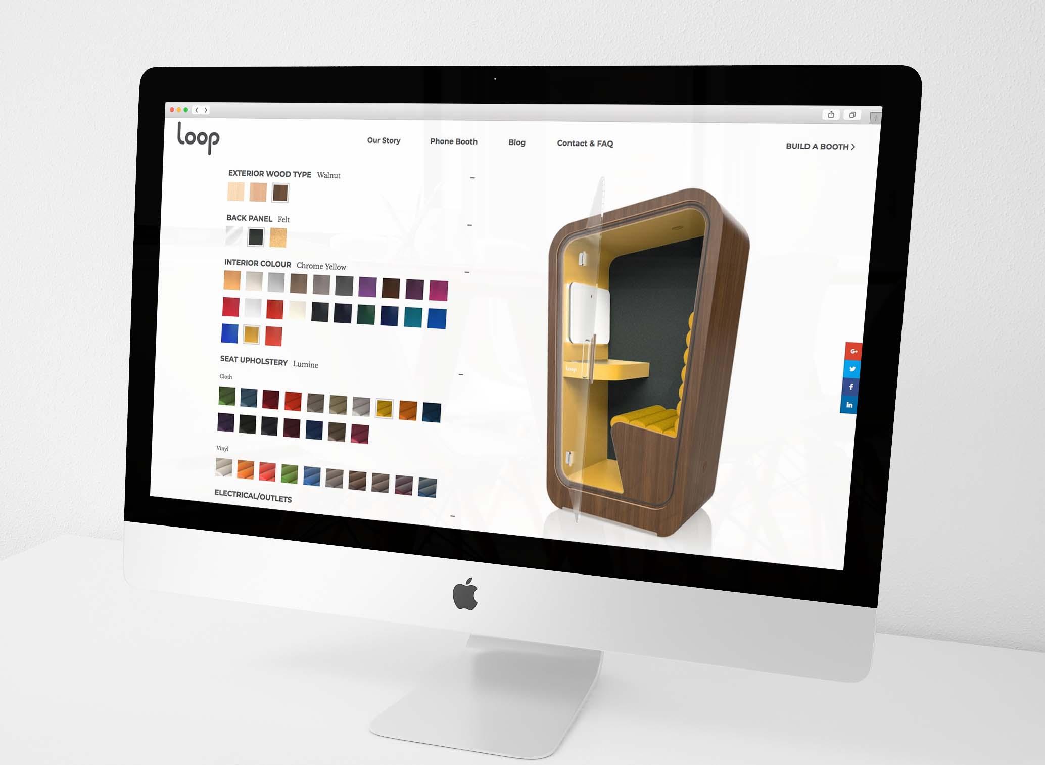 Natasia Designs Edmonton Graphic Design and Website Designer and Developer Branding development Loop Phone Booths Custom Online Order User Experience