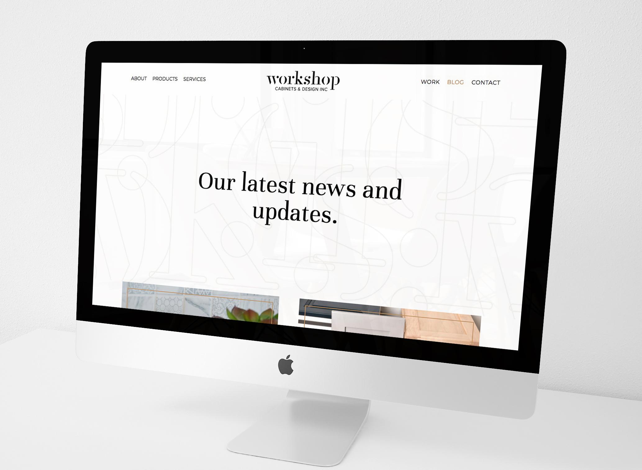 Natasia Designs Edmonton Website Designer and Developer Squarespace Branding Graphic Design Brand Workshop Cabinets and Design Camrose Alberta