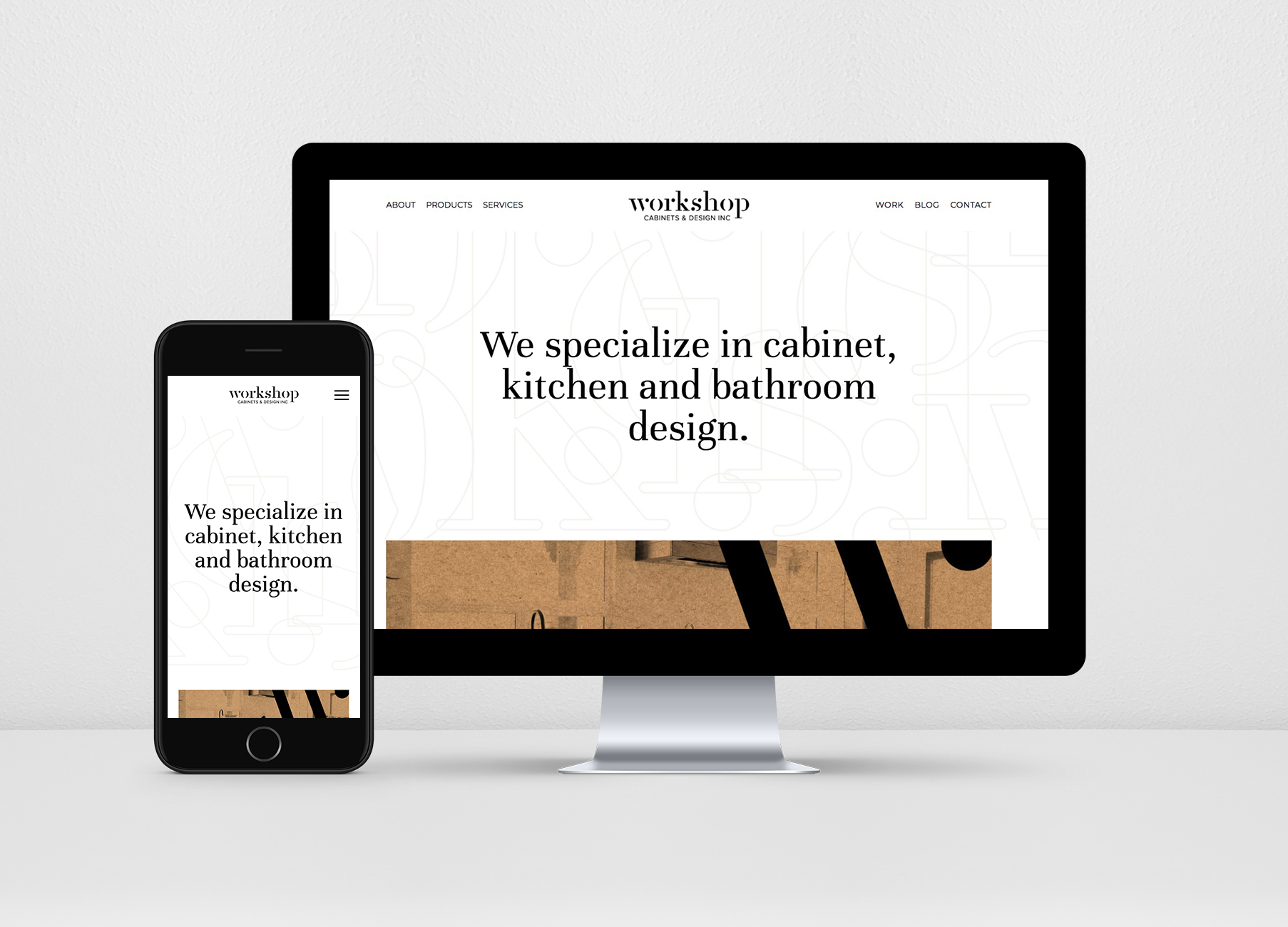 Natasia Designs Edmonton Graphic Designer, Website Designer, Logo Designer and Branding | Workshop Cabinets and Design Alberta Canada Builder Maker Web Business Cards Visual Identity