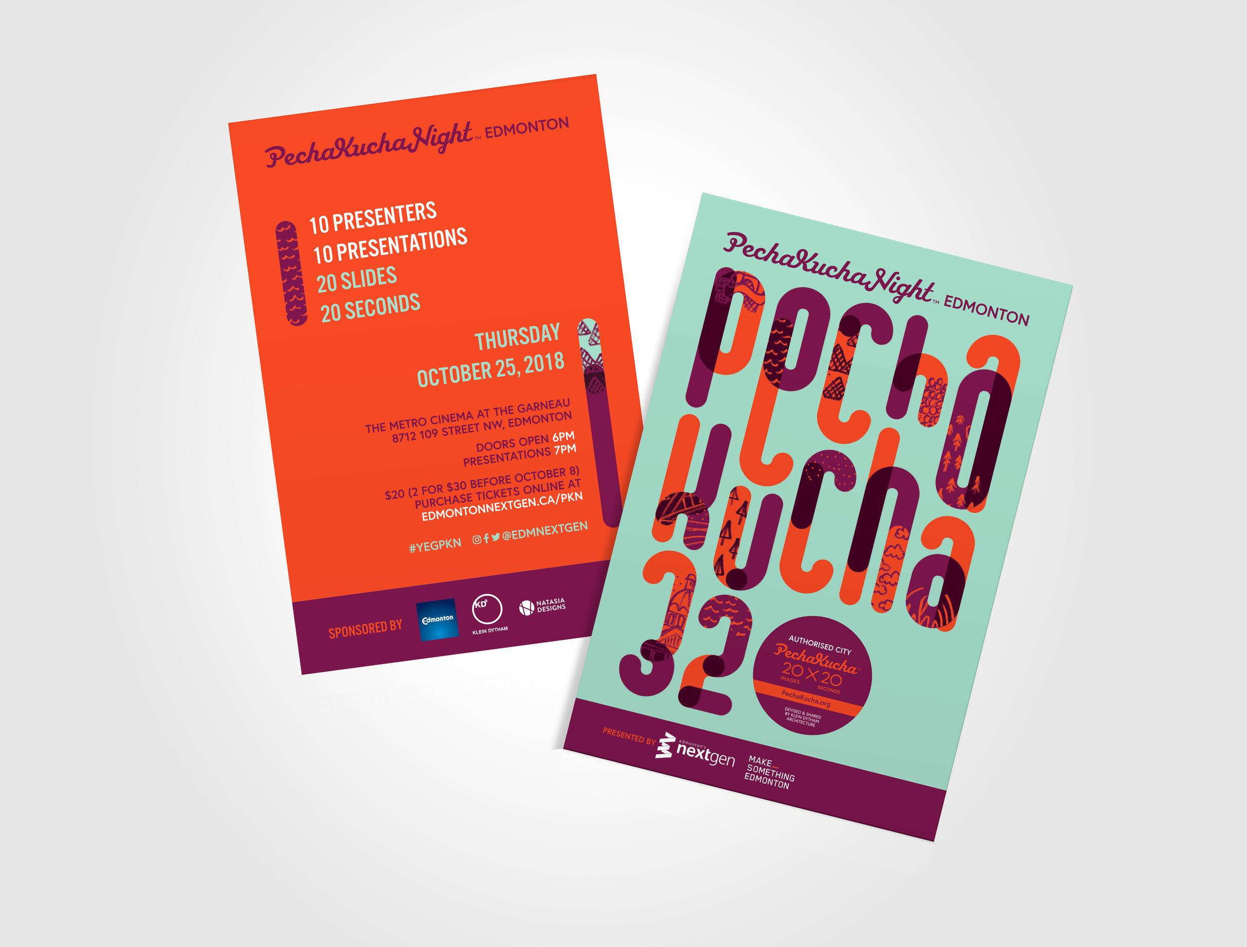 Pecha Kucha Night Edmonton Event Promotion