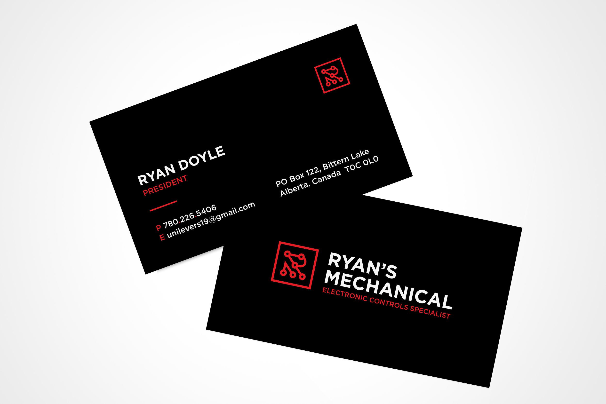 Ryan's Mechanical Business Cards and Brand Development