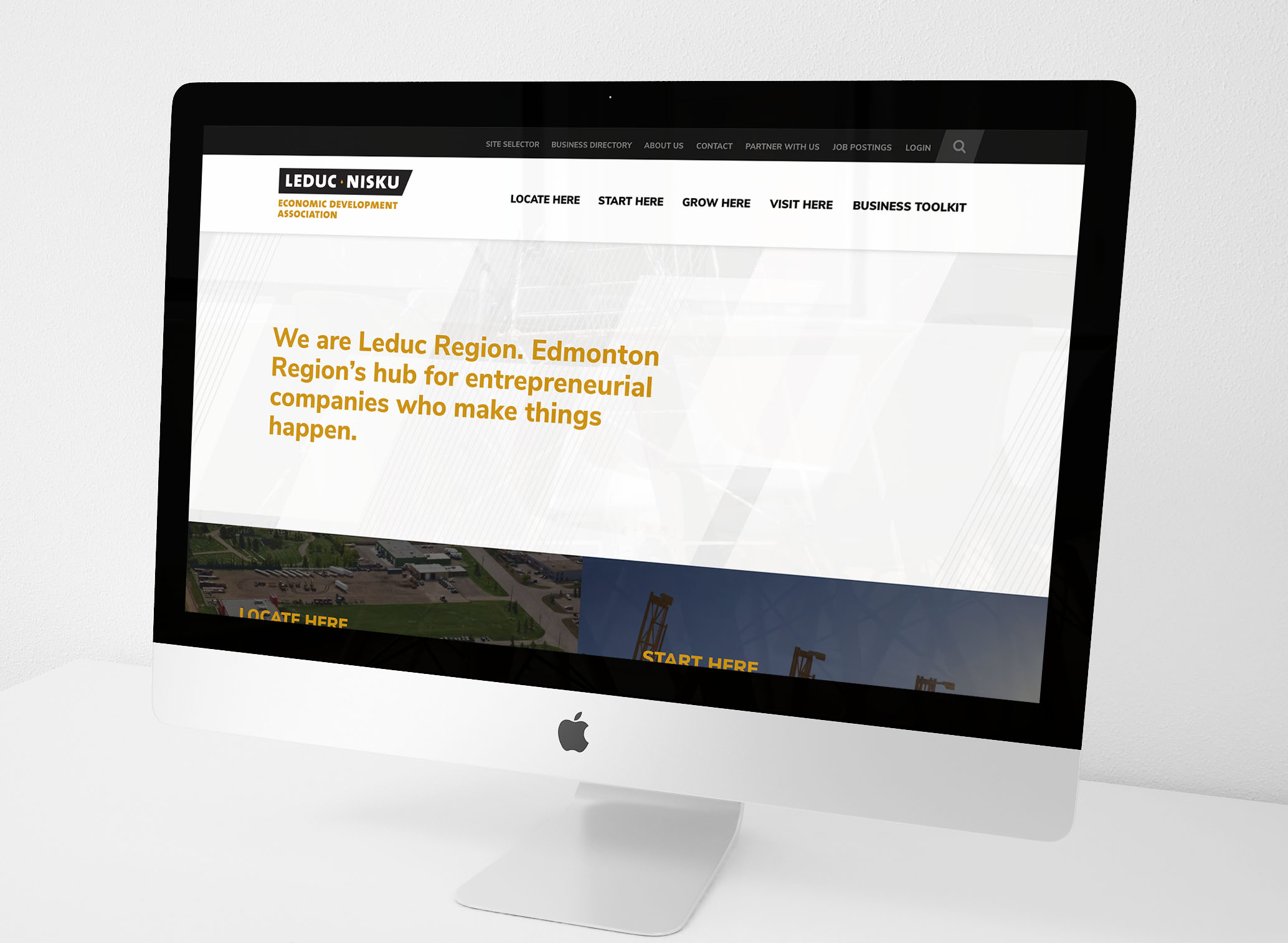Leduc-Nisku Economic Development Association Website Design and Development