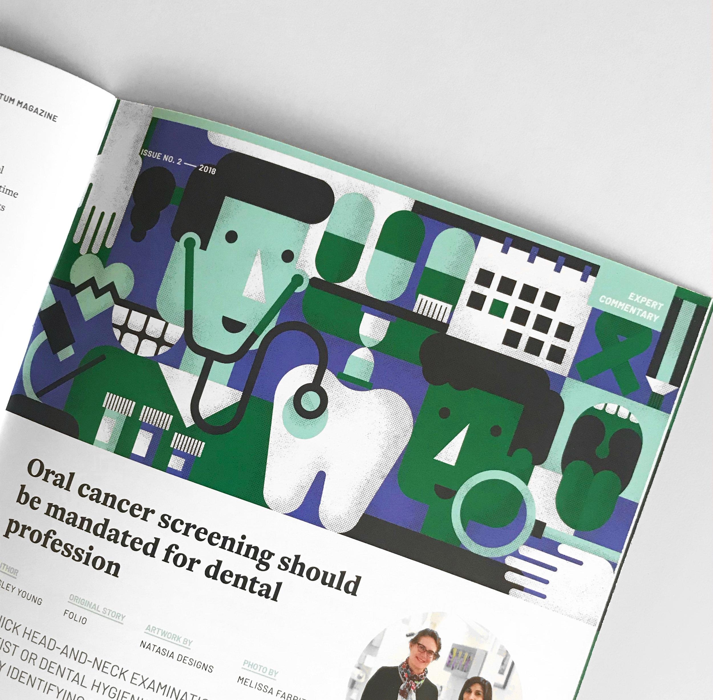 Natasia Designs Edmonton Alberta Graphic Designer Illustrator Magazine Editorial Brochure Design Annual Report University Education Medicine Dentistry