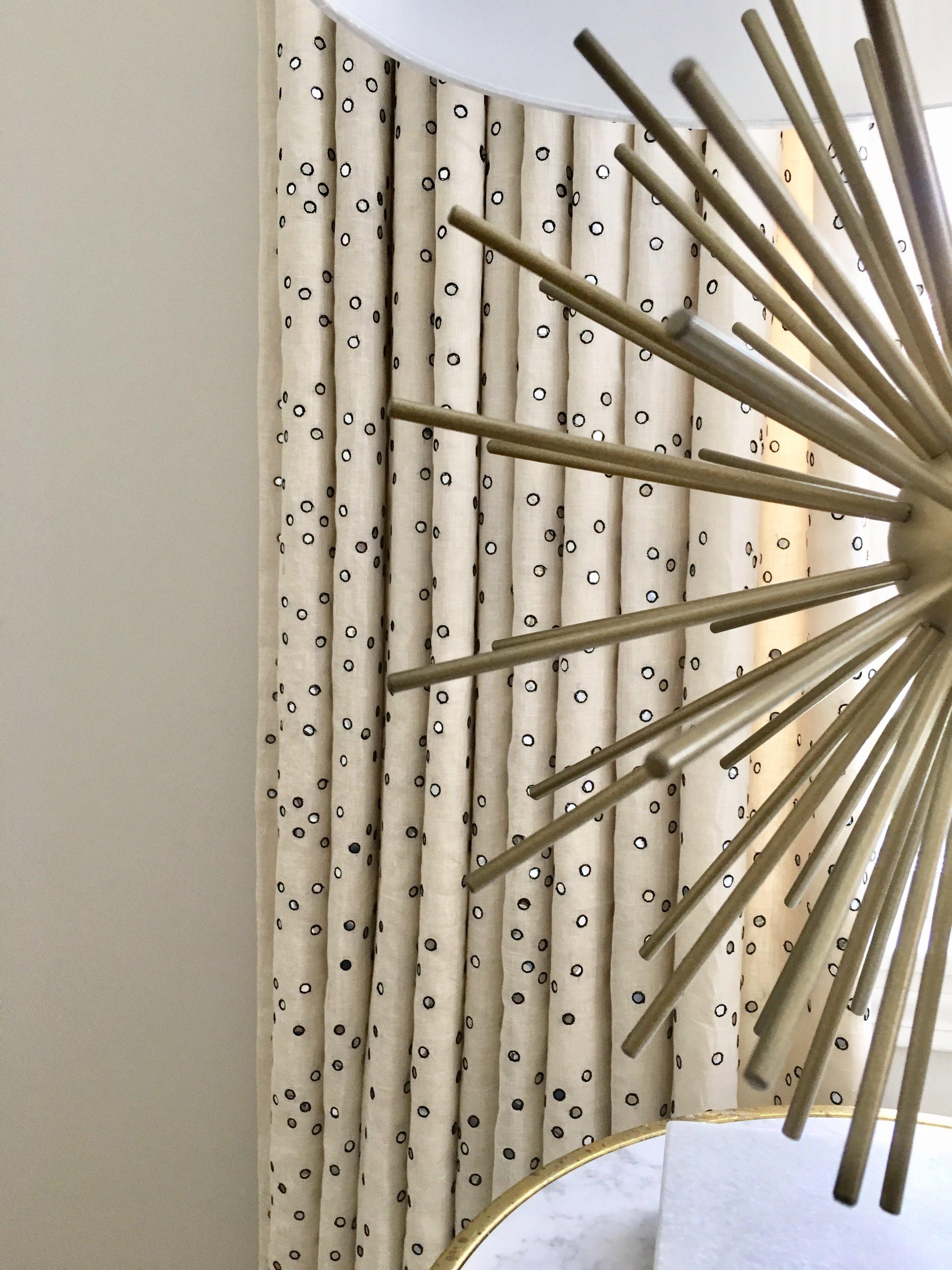 Yep those are tiny mirrors stitched onto fabric panels