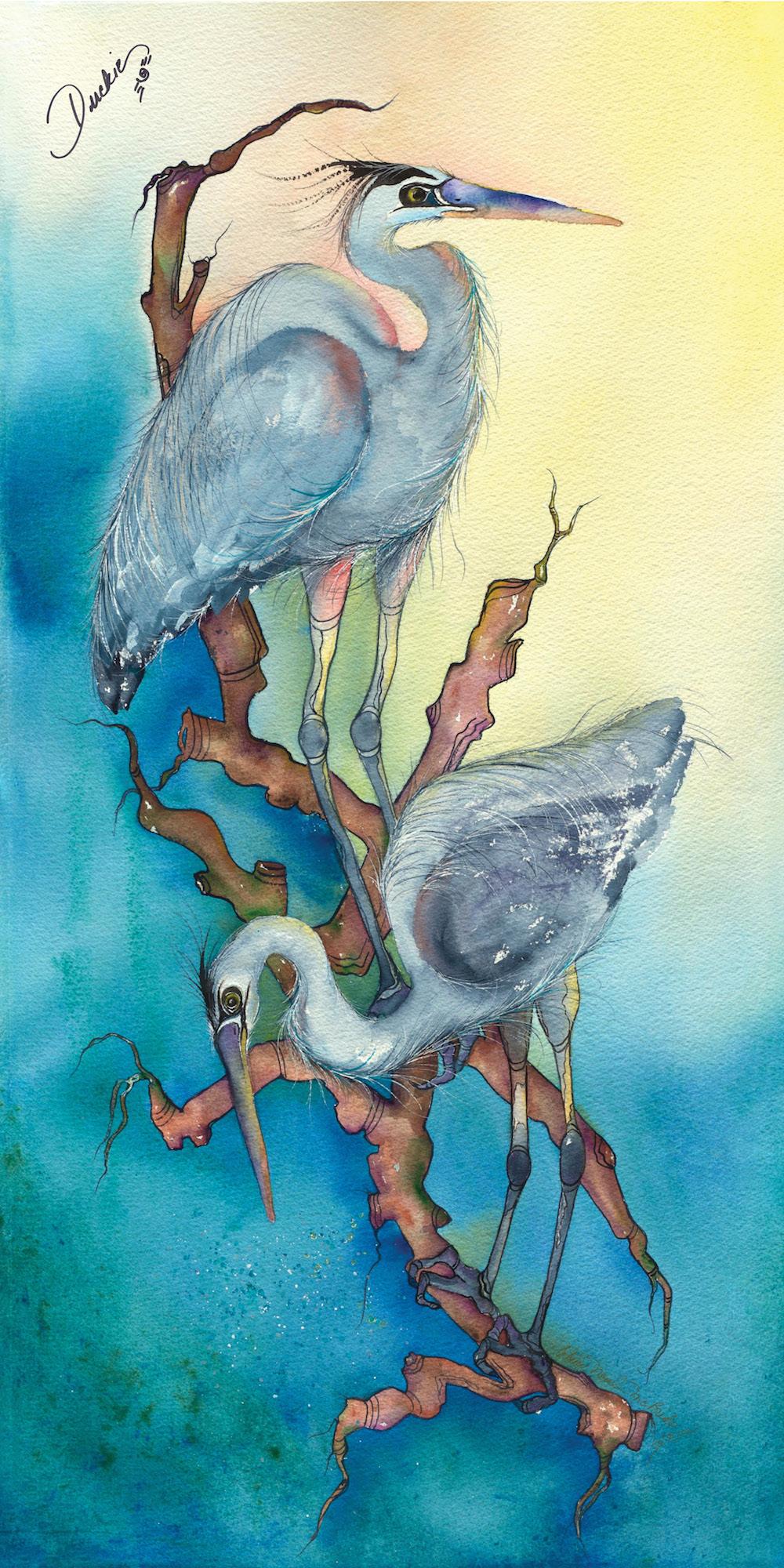 Quintana Blue - great blue herons