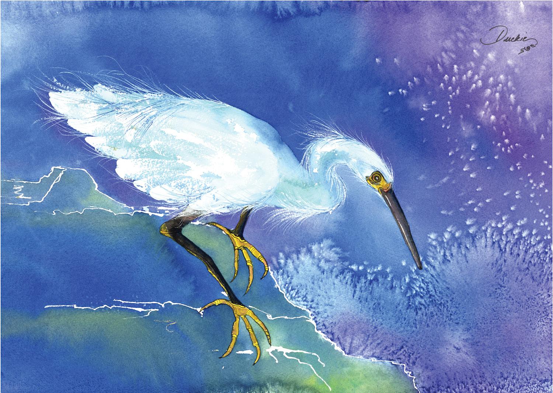 Golden Slippers - snowy egret