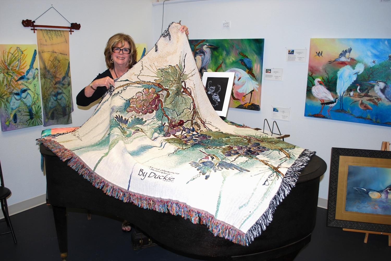 duckie and tapestry throw blanket DSC_3334.JPG