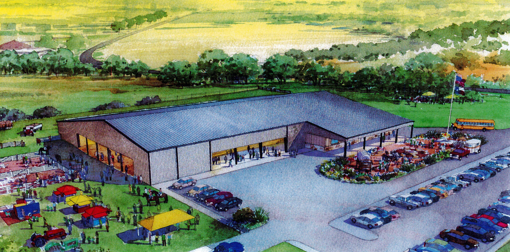 Rendering of Creed Ford III Therapeutic Riding Ranch
