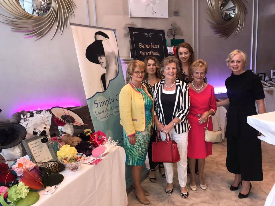 Surrounded by a bunch of fabulous ladies.... it's  Simply Chic Hat Hire  showcasing a selection of her stunning head pieces. Thank you for your support.  #SparkleAtTheg  (Photo:  Mini Media )