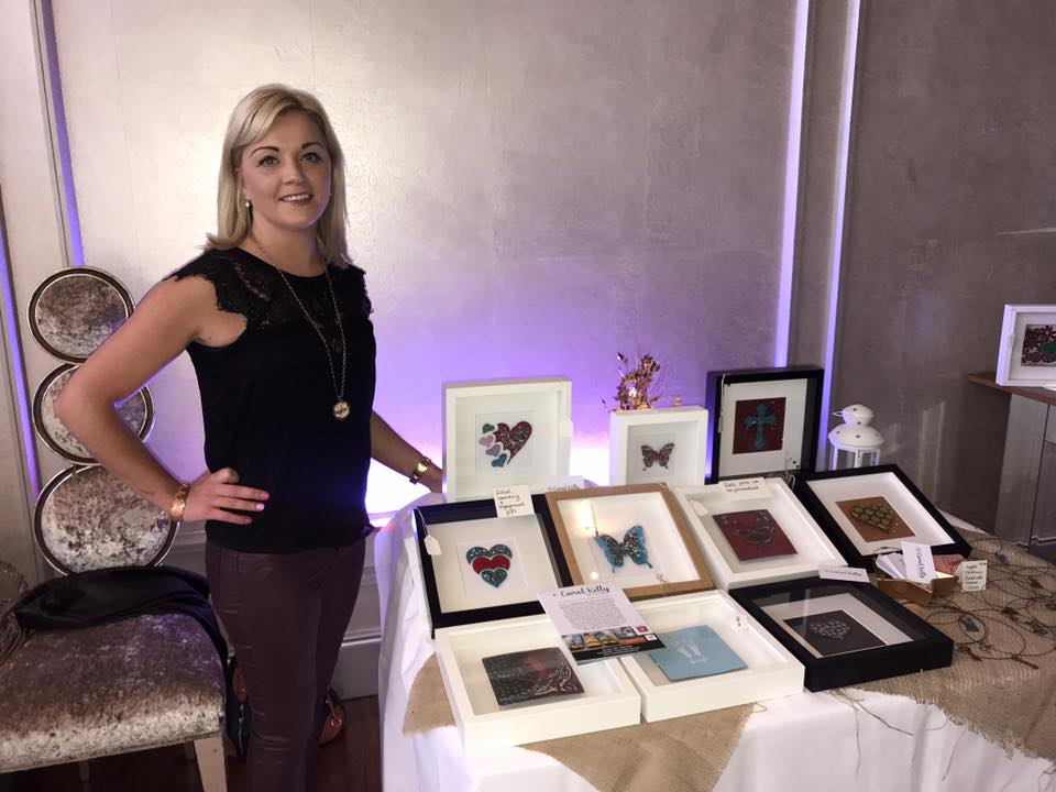 Love hearts and butterflies are only a few of the gorgeous pieces  Carol Kelly Artwork  creates. Lots of fabulous gift ideas for weddings, engagements, birthdays etc. Thank you for your support Carol. #SparkleAttg  (Photo:  Mini Media )
