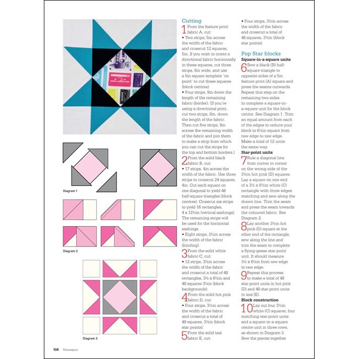 Neon Pop Quilt Instructions