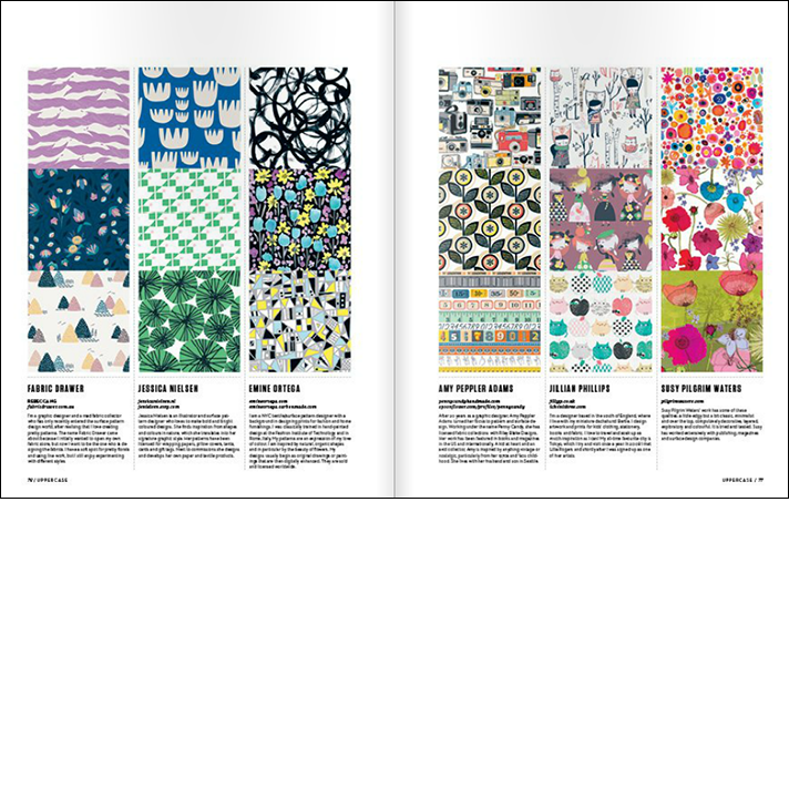 Uppercase Magazine Surface Pattern Design Guide Spread