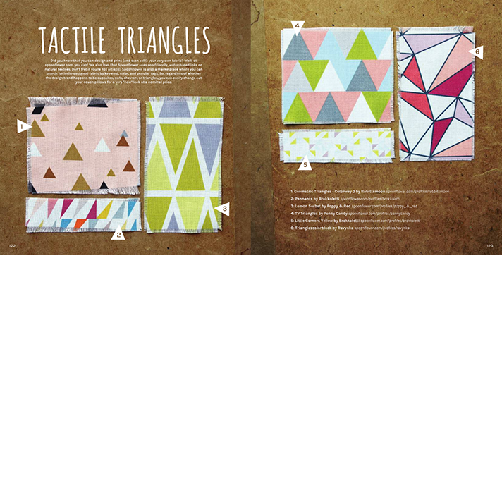 Tactile Triangles Editorial Spread