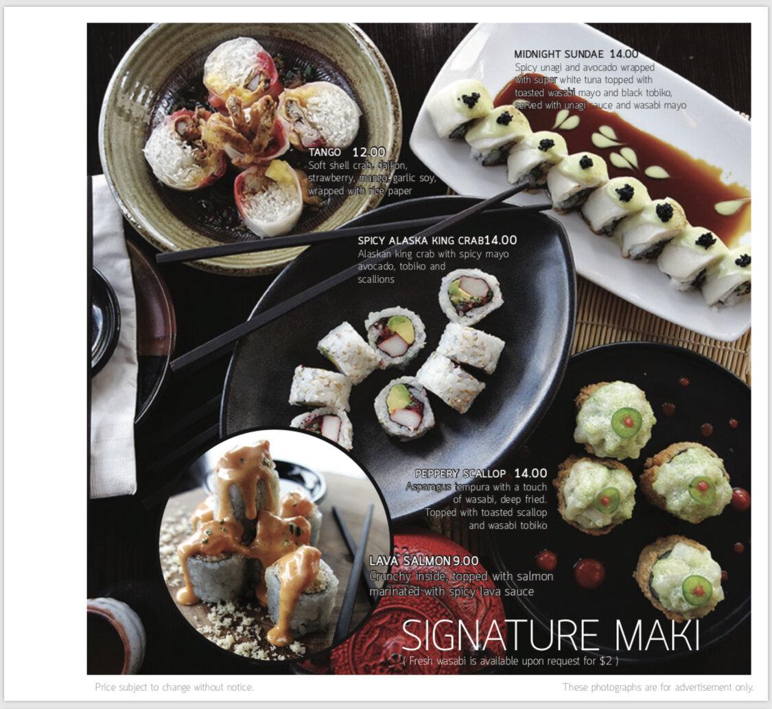 Seadog signature menu 4