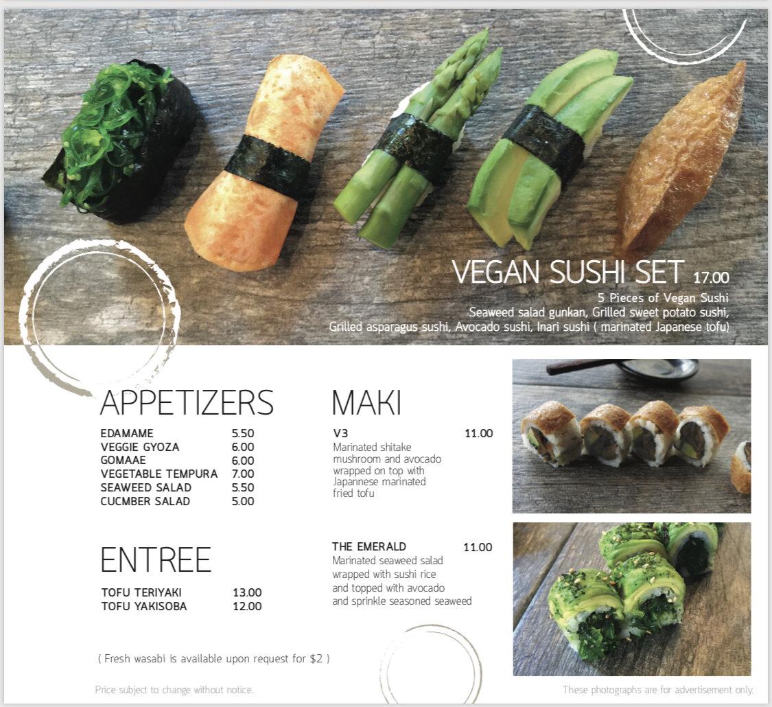 Seadog vegetarain & vegan menu 2