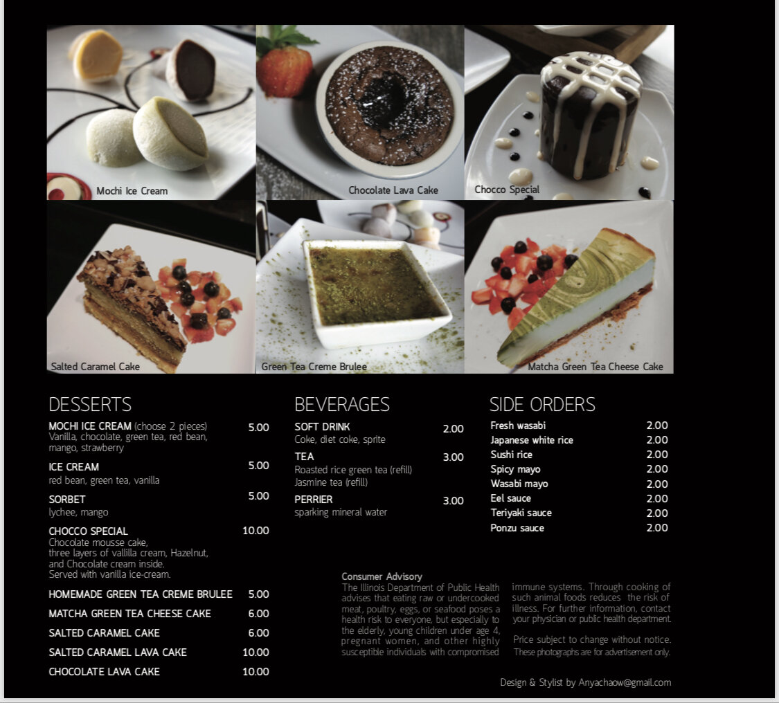 Seadog  dessert menu