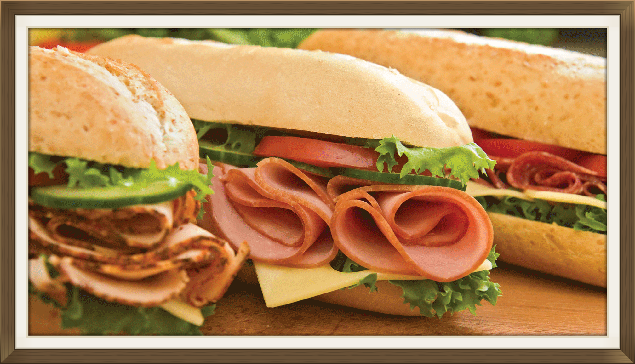 Pack a perfect picnic with our choice deli meats and fresh sandwich rolls, breads and, of course, desserts.