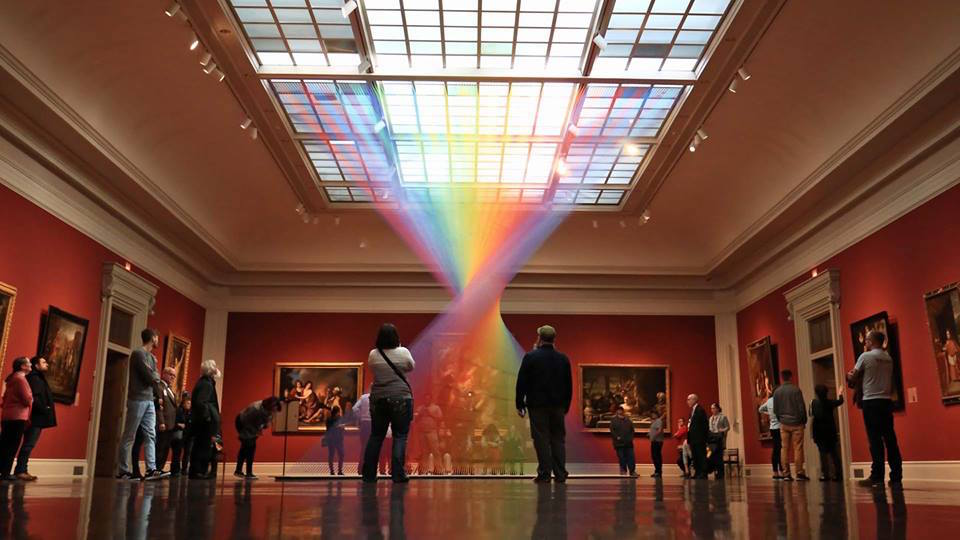 Rainbow Installation by Gabriel Dawe