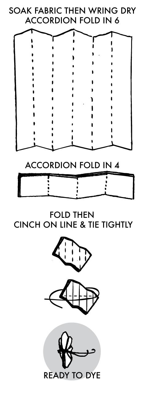 Tied Shibori Diamond Instructions