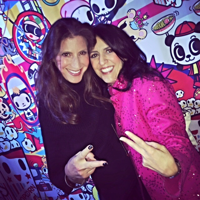 tokidoki 10 Year Anniversary Party, left to right: Tami Holzman (Me) and  Pooneh Mohajer, CEO and Co-Founder, tokidoki