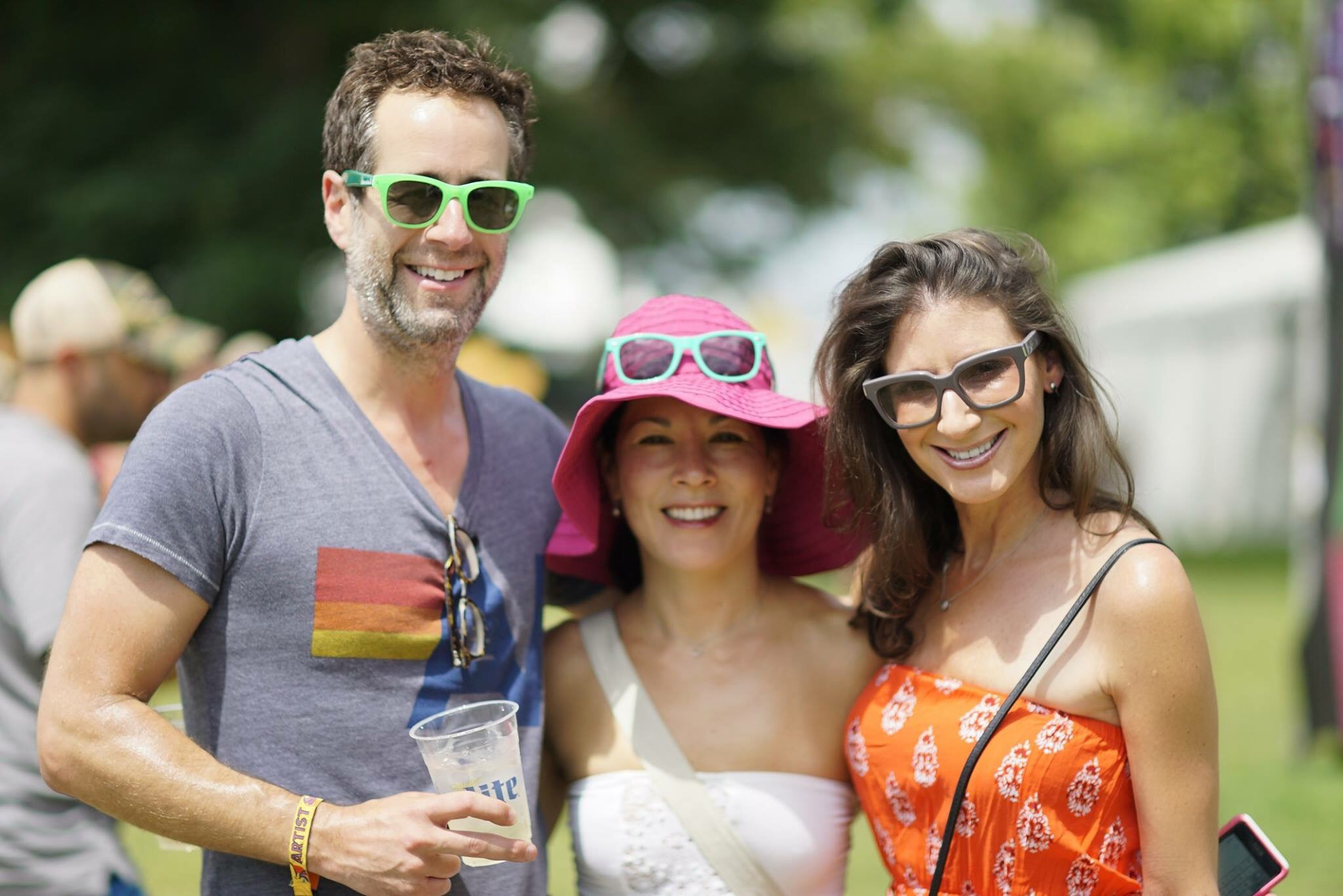 Bonnaro Music Festival, left to right:  Michael Lazerow, Former Founder and CEO Buddy Media and CEO of Lazerow Ventures, Sandra Jonas Desguin, CEO Maiden-Stone and Tami Holzman (Me)