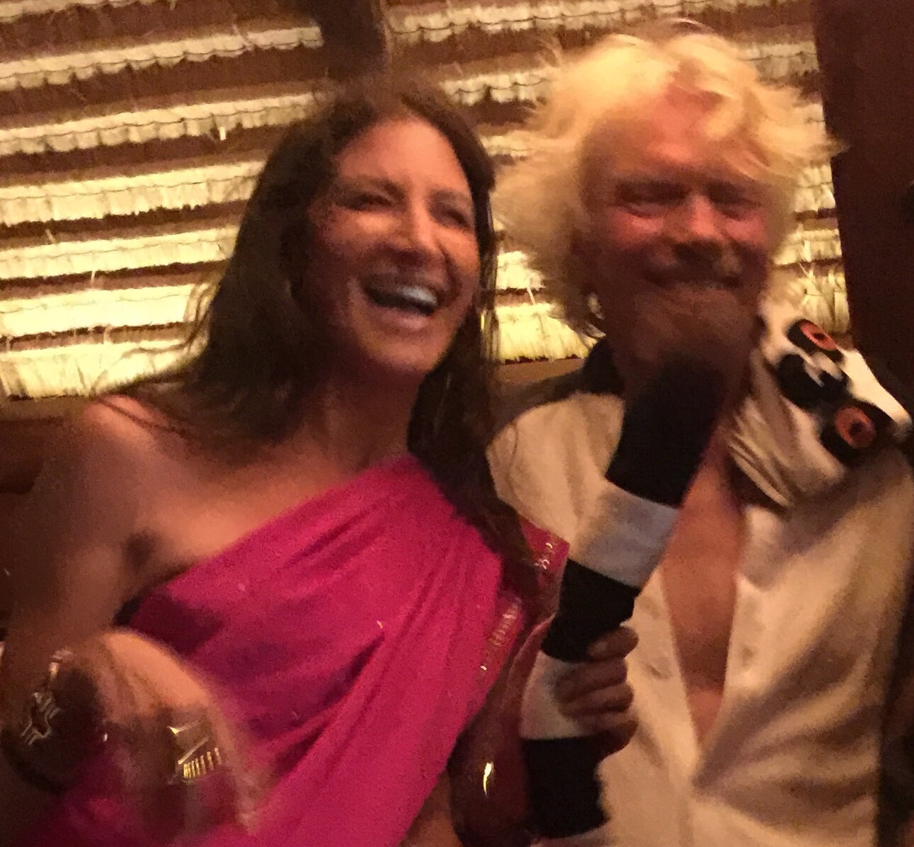 Necker Island, EO Weekend Event, where all the big ideas happen! Right to left:  Tami Holzman (Me) and Sir Richard Branson, Founder and Chairman of The Virgin Group