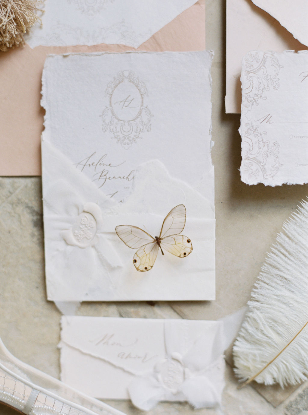 travellur_photoshoot__elegance_Jardin_de_Chateau_de_Villette_wedding_stationary_butterfly.jpg