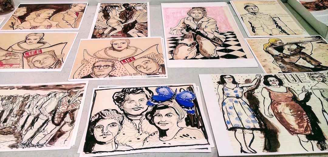 """Various images of Las Mujeres de Abril and Las Hermanas Mirabal , a catalyst for revolution.    """"Vi mujeres maravillosas, bellas de una aparente delicadeza, las vi dejando sus hogares, sus familias, sus hijos, todo por defender una causa que consideraban justa, por defender una patria que llevamos tallada en el corazón""""   The Dominican Republic's war of April 1965, is the invasion that Americans don't remember and that Dominicans will never forget. These images document the universal patterns that led to this historic event and they examine the legacy of resistance and trauma caused by political oppression during the post-Trujillo era. The normative consequences of these patterns of dictatorship, oppression and dissent permanently transformed the Dominican Republic and the aftershock of the Revolution remains with us today. One noticeable impact is the creation of the Dominican diaspora which is currently the largest immigrant community in New York City. The same year that the US invaded Dominican Republic, the US government also enacted immigration reform and repealed the national origin quotas by passing the Hart-Cellar Act which no longer favored European immigrants. The Revolution was the push factor that pollinated New York with a community that would go on to nourish both this city and the homeland as a synergy between Santo Domingo and Nueva York was born.   Backstory   Trujillo's 32 years as President ended in his CIA-backed assassination by a faction of the Dominican military. Trujillo's murder was followed by an 18 month period of intense political turmoil that culminated in the first free elections in over 33 years on December 1962 . The Presidential election was won by the writer and scholar Juan Bosch, a social-democrat. His pro-labor reforms were modest and yet angered the ruling class, the US government which had long protected American corporate investments in DR, and the Catholic Church who had signed a Vatican concordat with Trujillo. A concordat i"""