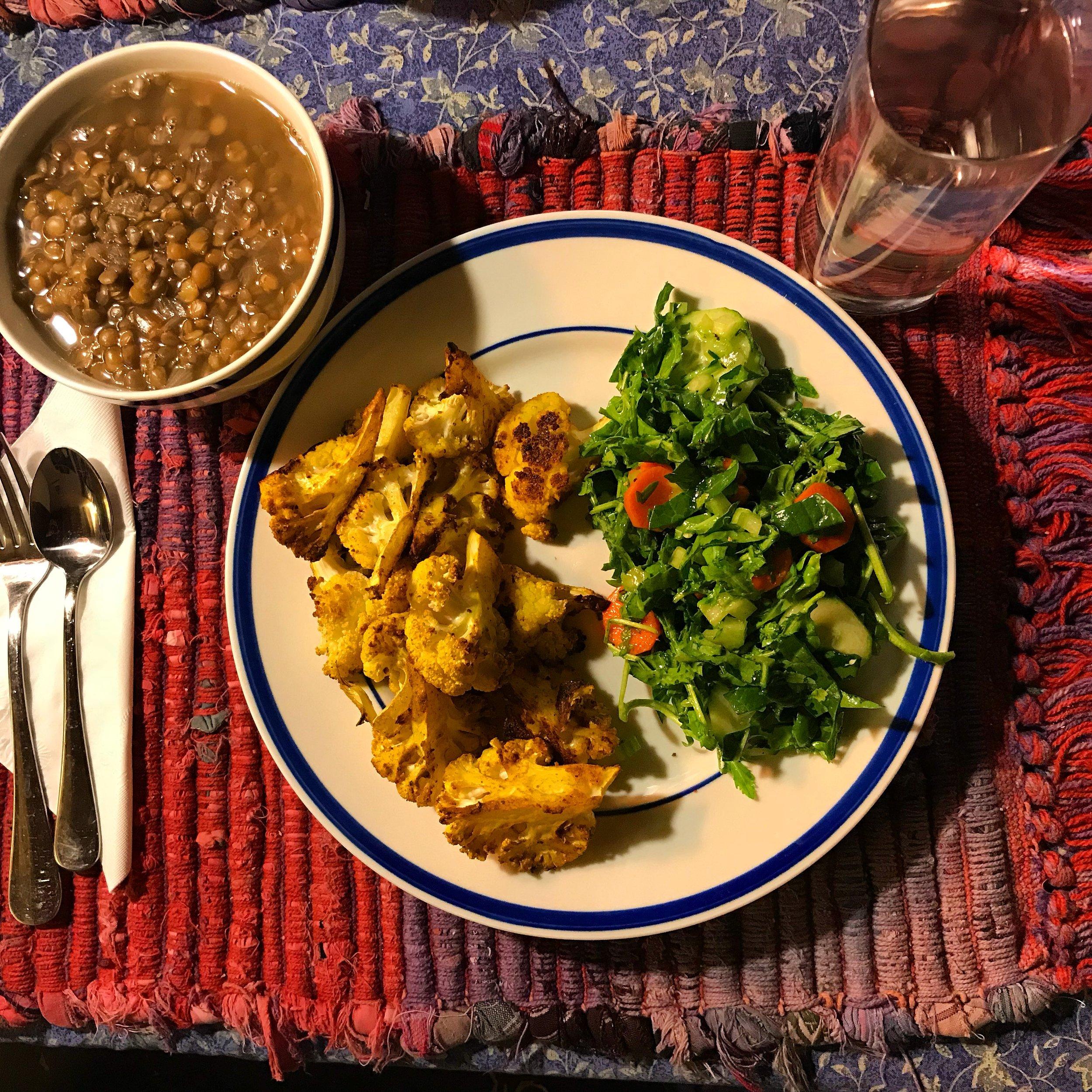 Five Prana Ayurvedic Recipe Curried Cauliflower