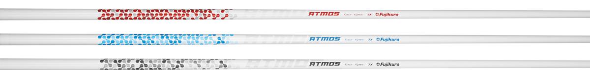 Neu ist die ATMOS Tour Spec Linie, die auf den ambitionierten Golfer ausgerichtet ist, der den Ball mit wenig Spin spielt.Rot für den höheren Ballflug, Blau für einen mittleren Ballflug, Schwarz für den niedrigsten Ballflug. -