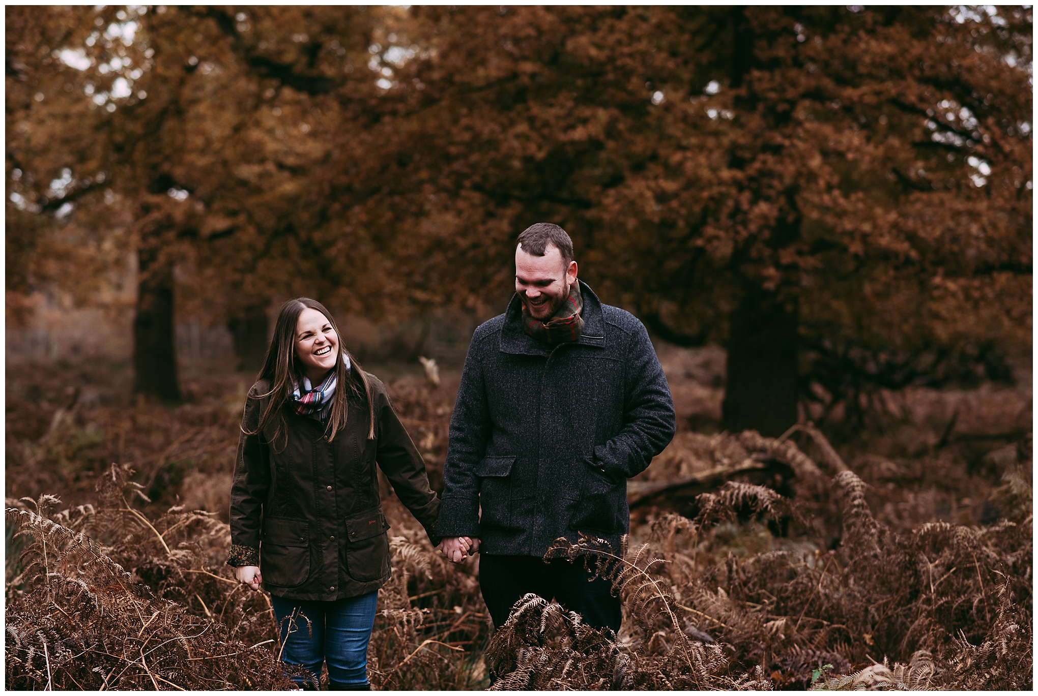 Lifestyle photo shoot at Dunham Massey with couple