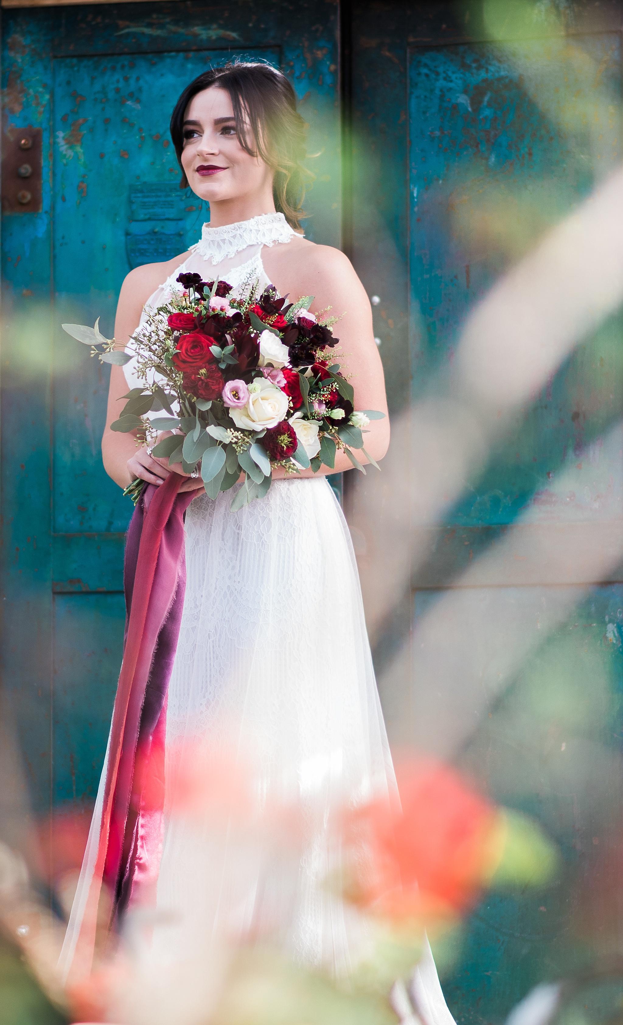 Portrait of the bride. Lancashire wedding photography