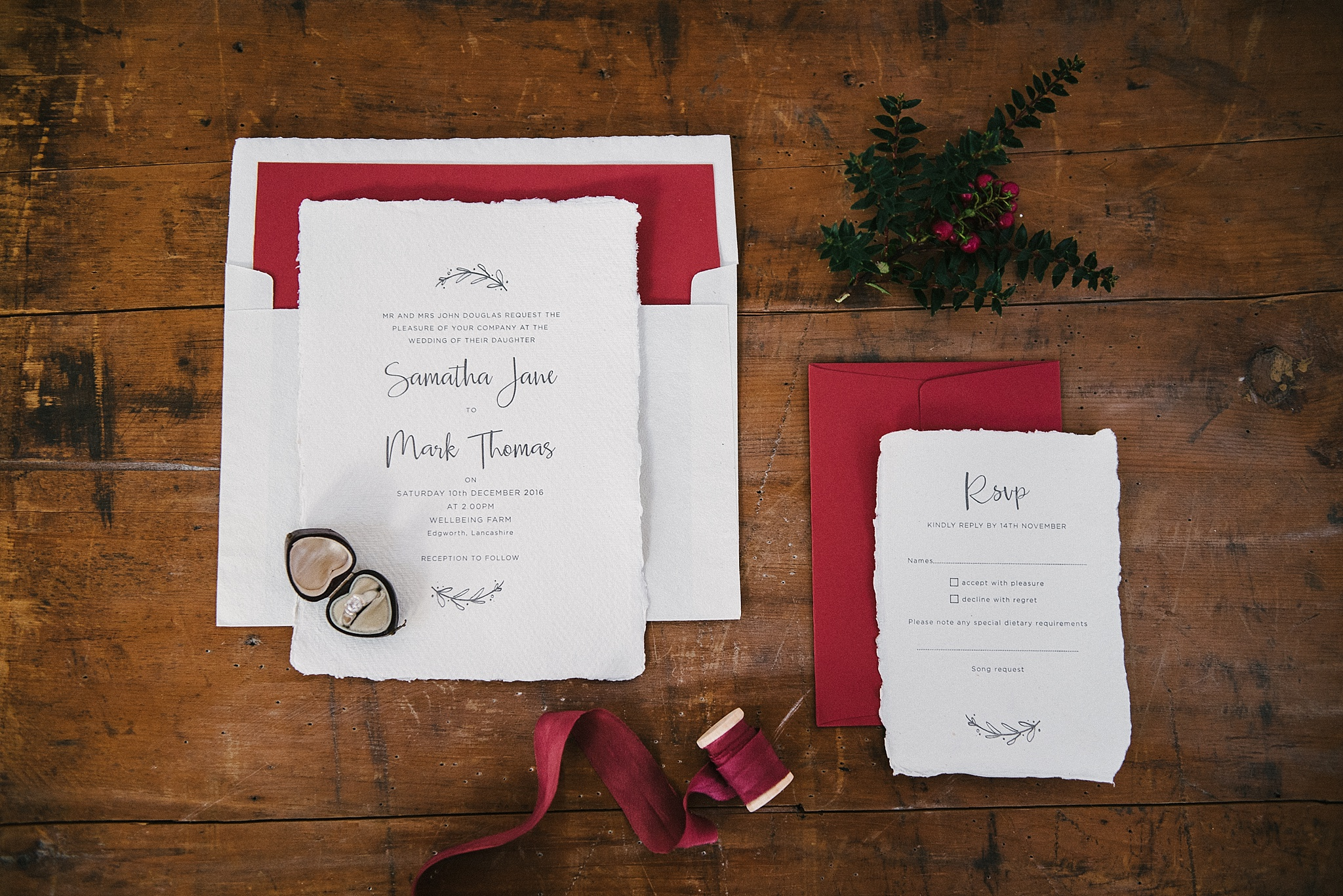 Letterpress wedding stationery for Print for Love in Lancashire.