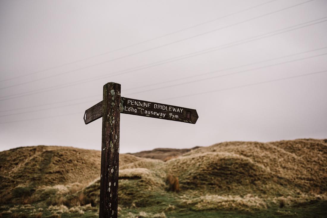 sign post on the pennine moors, Lancashire