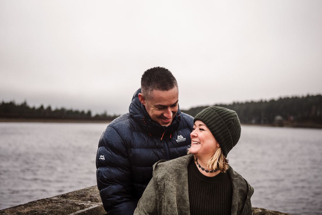Natural shot of couple laughing. Burnley wedding photographer.