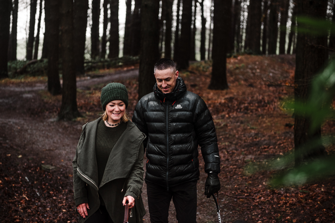 Documentary shot of couple walking together