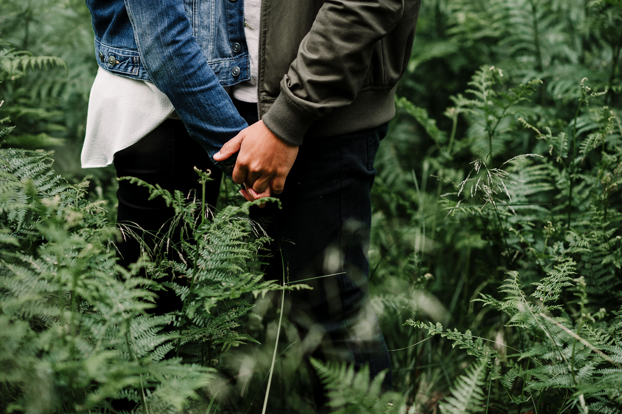 Holding hands, a close up shot. Natural photography, Lancashire