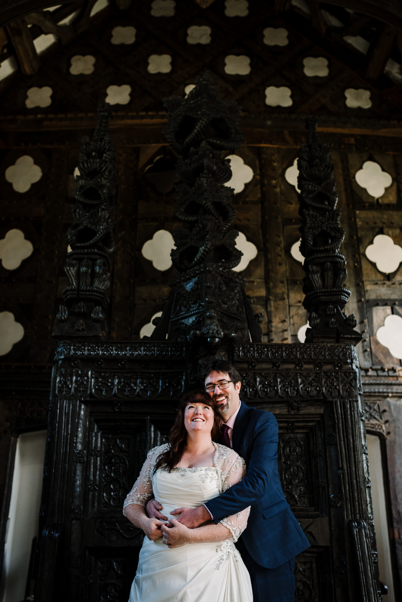 Natural shot of couple laughing. Lancashire wedding photography