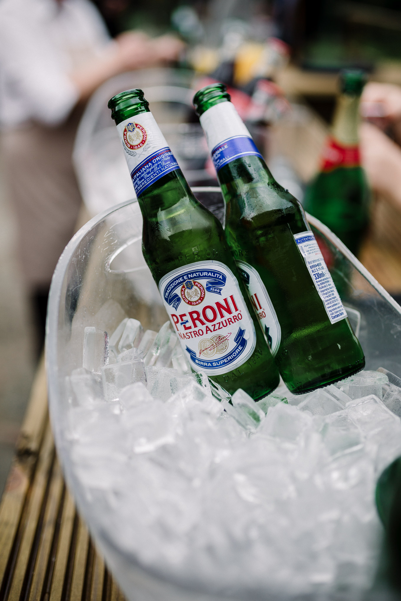 Close up of drinks bar.
